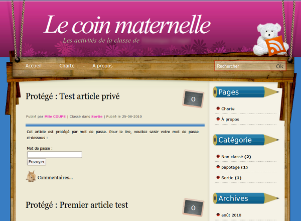 Theme WordPress coinmaternelle